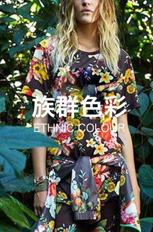 流行t恤印花元素的族群色彩