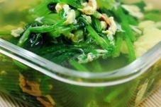 蛏干菠菜汤