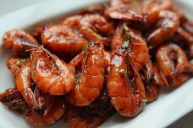 油爆基尾虾(大红袍)