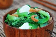 小白菜海米炖豆腐