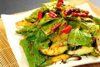 小白菜拌黄瓜