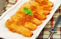 酸梅酱烤三文鱼