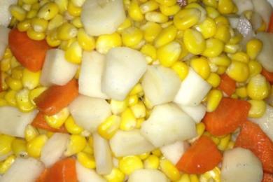小炒玉米山药丁