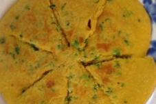 鸡蛋玉米小葱饼