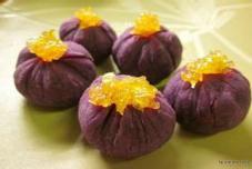 电饭锅紫薯茶巾绞