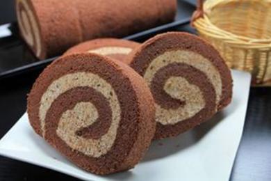 巧克力奶油蛋糕卷