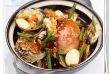 麻辣砂锅螃蟹