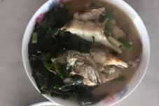 裙带菜烧桂花鱼