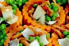 鸭梨菌菇炒百合