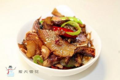 腊猪头肉炒萝卜干2