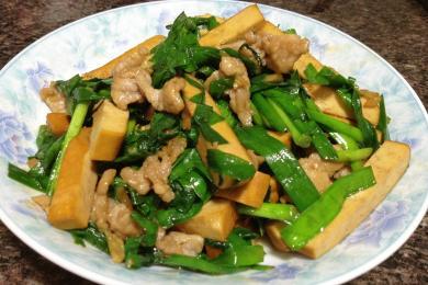 韭菜炒香干3