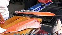挪威三文鱼切割录像