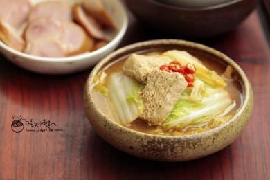 菠菜炖冻豆腐3