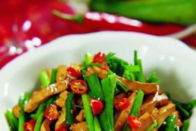 韭菜炒香干2
