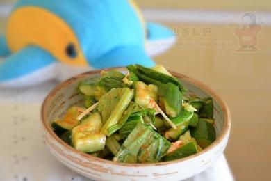 小白菜拌黄瓜1