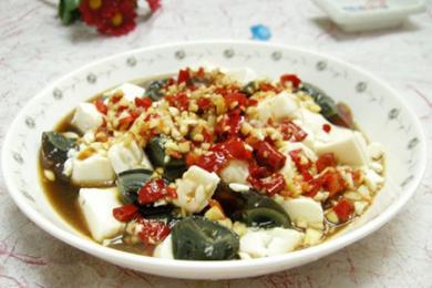 皮蛋拌豆腐1