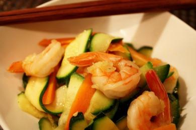 西葫芦炒虾仁2