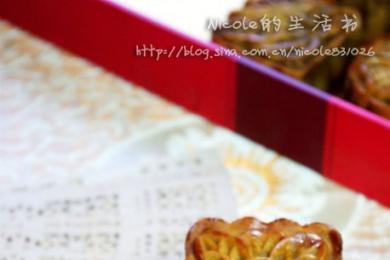 广式豆沙蛋黄月饼2
