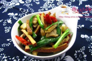 韭菜炒香干4