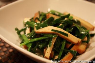 韭菜炒香干1