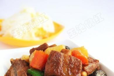 咖喱土豆炖排骨3