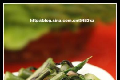 清炒红菜薹1