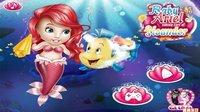 美人鱼公主 爱丽儿照顾比目鱼 美人鱼公主与美人鱼王子 芭比公主