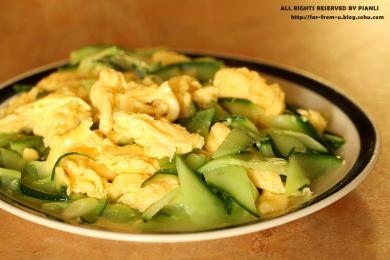 黄瓜炒鸡蛋1
