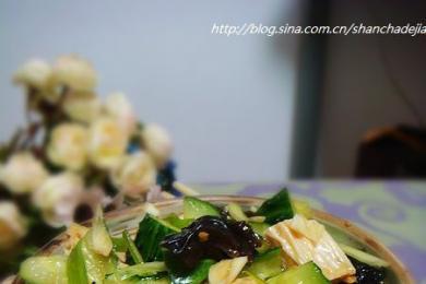 腐竹木耳拌黄瓜1