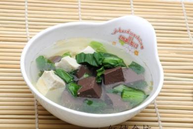 鸭血豆腐汤1
