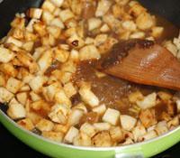 酱爆火腿鲍菇的做法