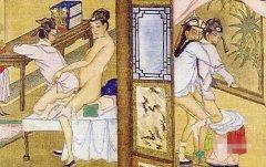 古代香艳春宫图里的男同图片