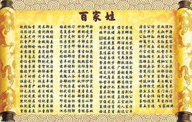 """中国最罕见的几个姓氏,""""禽""""姓在其中,这里有没有你的姓氏吗"""