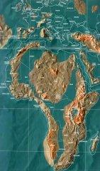 """科学家绘制出陨石撞击地球后的""""世界末日""""图,日本菲律宾已淹"""