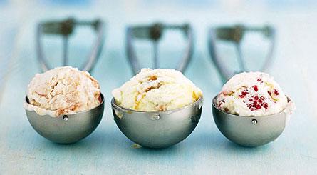 白色意式香草冰淇淋