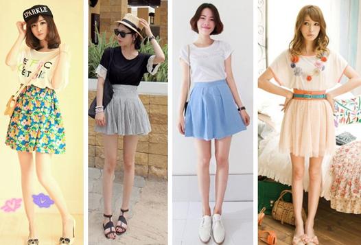 夏季女t恤短袖搭配半身裙 散发甜美仙气范