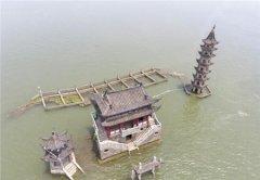 有着千年历史的古建筑,大部分时间沉于水中一年只现世一次