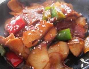 有助高血压的杏鲍菇回锅肉