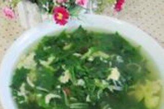 菊花脑银鱼蛋汤的做法
