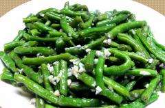 清炒蒜蓉四季豆