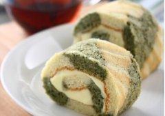 双色绿茶蛋糕卷