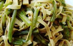 炒豆皮芹菜