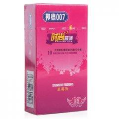 邦德007天然胶乳橡胶避孕套(时尚超薄草莓香) 10只
