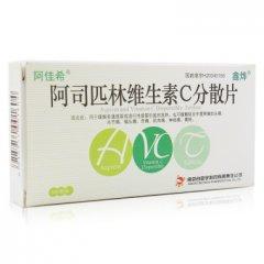 阿佳希 阿司匹林维生素C分散片 0.4g:0.24g*6片