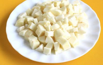 小炒玉米山药丁的做法