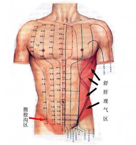 腹部中线处肿块